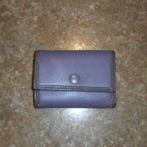 Coach Wallet Leather Tri-Fold Lavender Perfect EUC